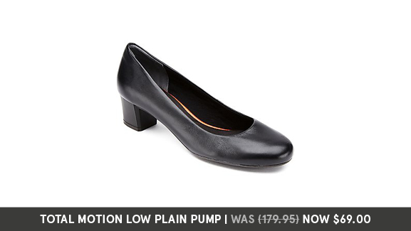 Rockport Women's Total Motion low plain pump