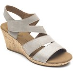 Image of Rockport KHAKI METALLIC BRIAH ASYM WEDGE